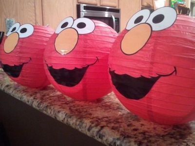 Elmo Birthday Party Ideas Paper Lanterns