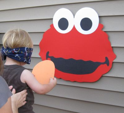 Pin The Nose On Elmo Birthday Party Game