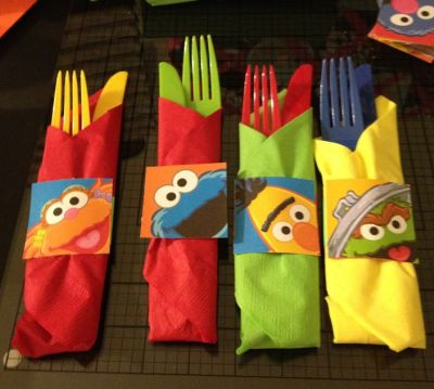 Cutlery Elmo Birthday Party Ideas