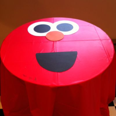 Tablecloth Elmo Birthday Party Ideas