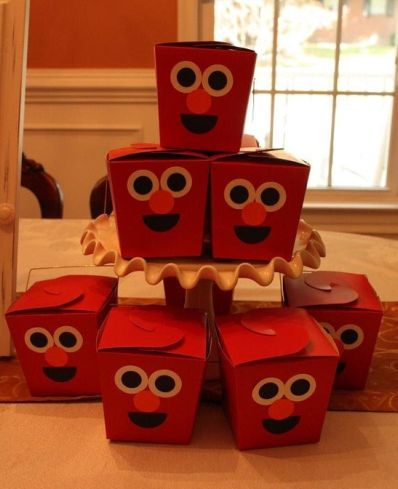Elmo Birthday Party Favor Idea