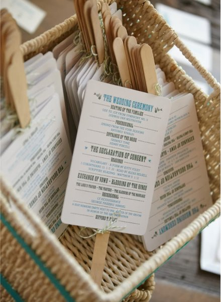 Wedding Favor Fan Basket Display