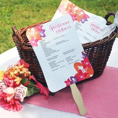Wedding Favor Fan Program Idea