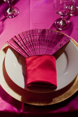 Wedding Favor Fans Tablescape