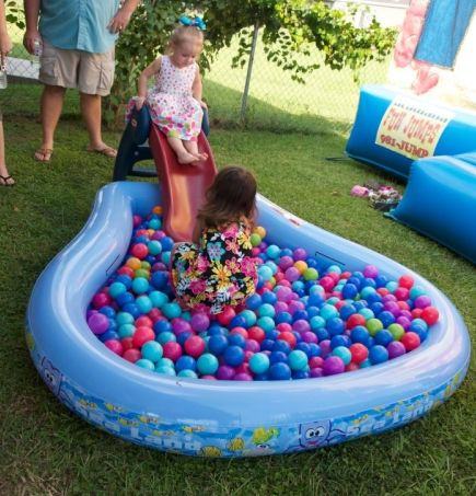 First Boy Birthday Pool Pit Game