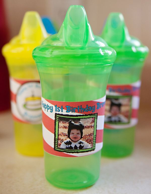 First Boy Birthday Personalized Sippy Cups