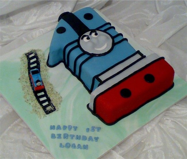 Number One Thomas The Train Birthday Cake