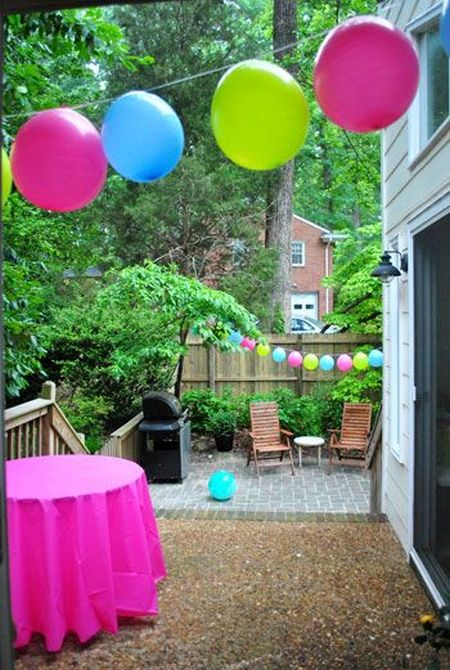 First Girl Birthday Balloon Garland