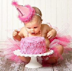 Precious First Girl Birthday Picture