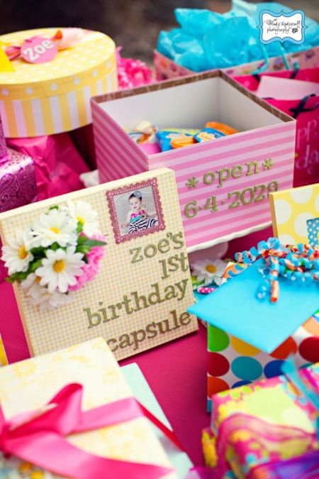 First Girl Birthday Time Capsule