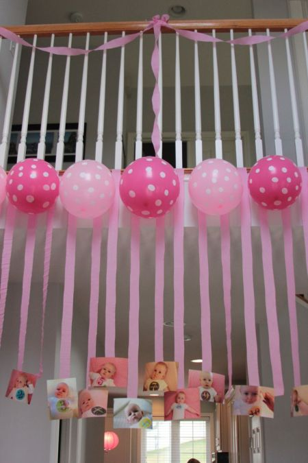 First girl birthday for 1st birthday hall decoration ideas
