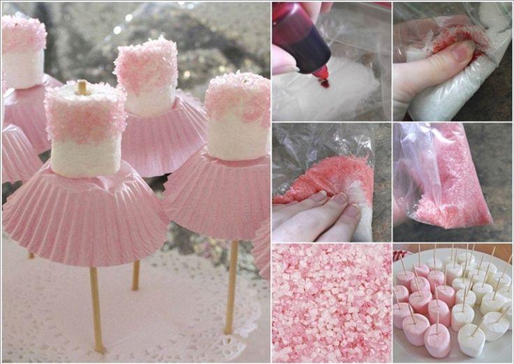 First Girl Birthday Marshmallow Ballerinas