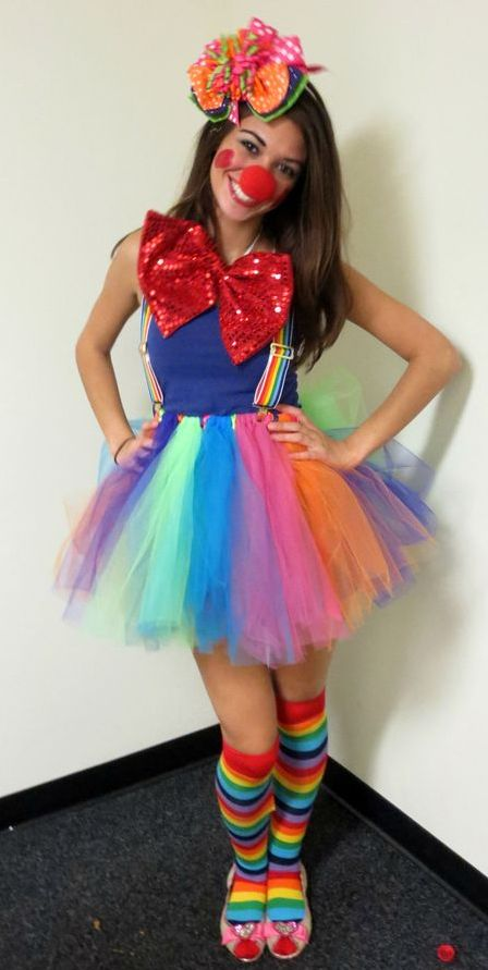 Teen Girl Clown Halloween Costume Idea