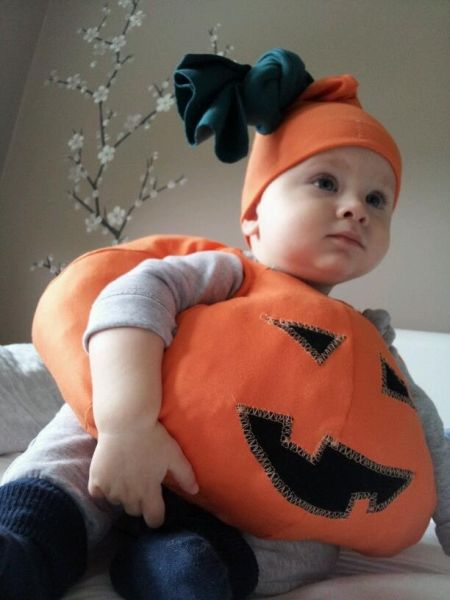 Toddler Halloween Pumpkin Costume Idea