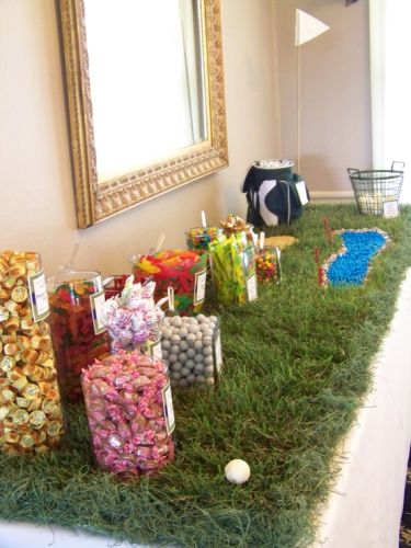 Golf Themed Wedding Favor Candy Buffet