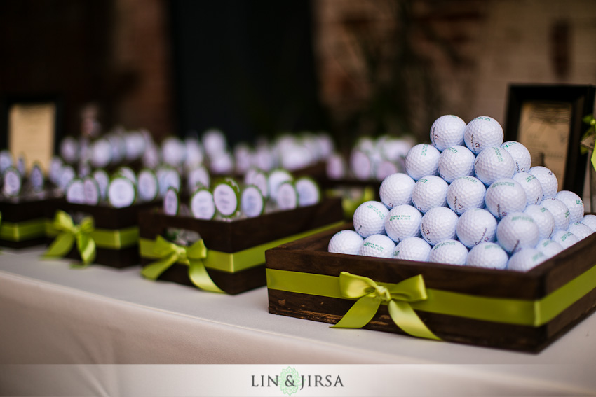 Golf Themed Wedding Ideas Display