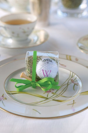 Monogrammed Golf Themed Wedding Favors