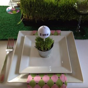 Green Golf Themed Wedding Favors