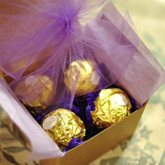 Royal Gourmet Chocolate Wedding Favors