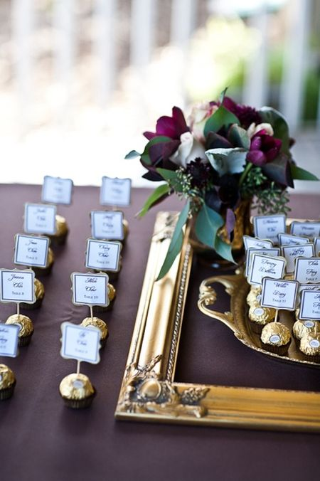 Gourmet Chocolate Escort Cards