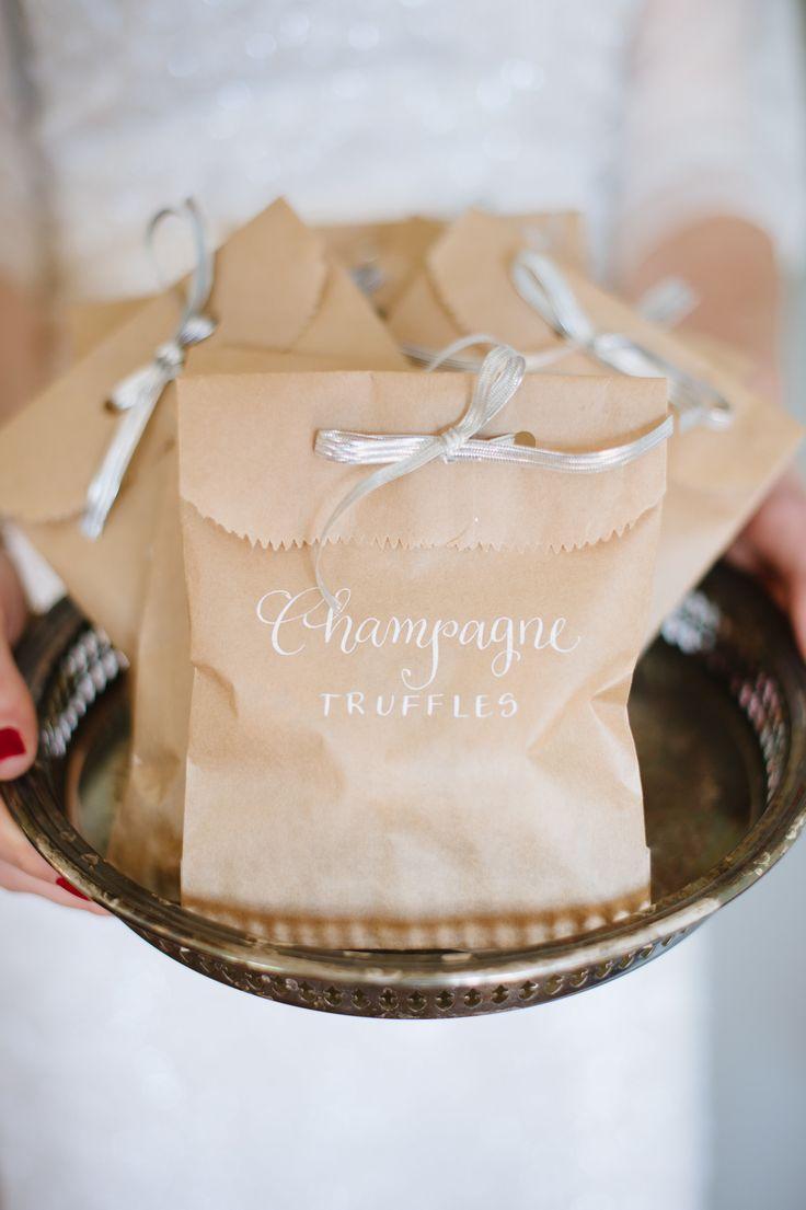 Gourmet Chocolate Truffle Wedding Favors