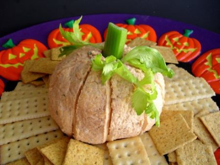 Pumpkin Shaped Halloween Appetizers