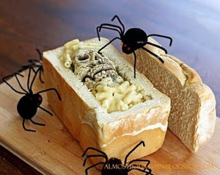 Bread Coffin Halloween Appetizers