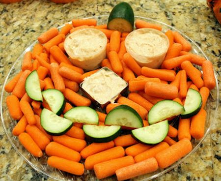 Vegetable Halloween Appetizers