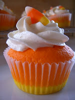 Candy Corn Halloween Cupcake Ideas