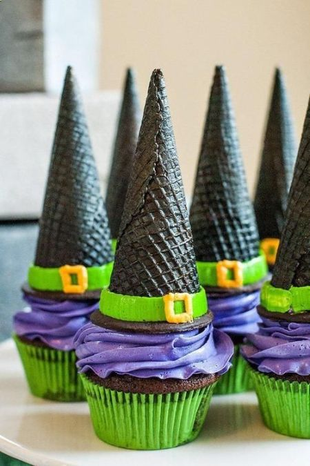 Witch Hat Halloween Cupcake Ideas