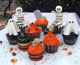 Assortment of  Halloween Cupcake Ideas