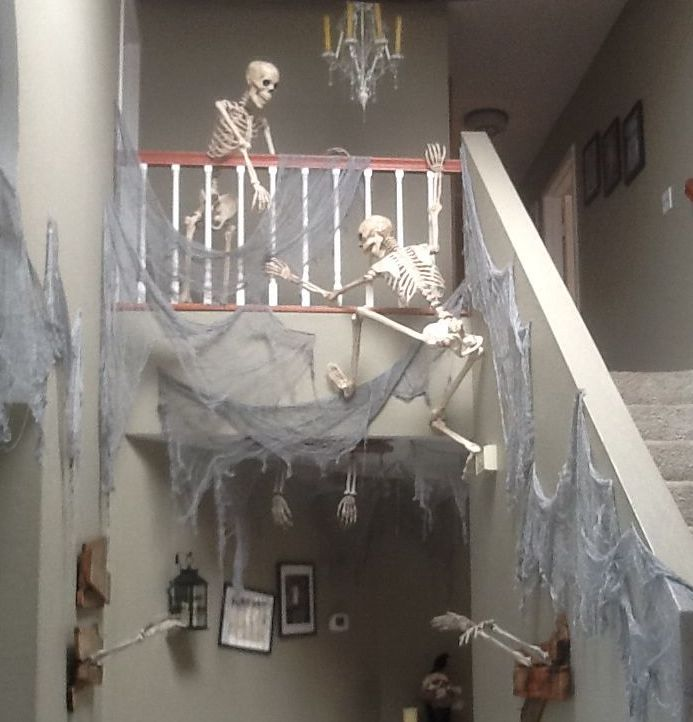 Skeleton Stairway Halloween Decoration