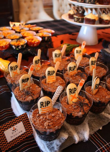 Dirt Cup Halloween Treats For Kids