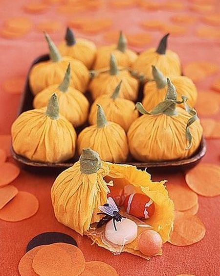 Paper Pumpkin Halloween Treats For Kids