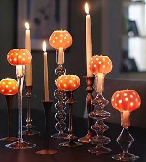 Candlelit Pumpkin Halloween Party Ideas