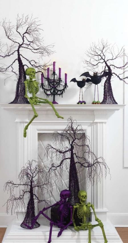 Fireplace Halloween Decoration Ideas