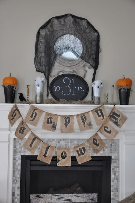 Halloween Mantle Decorating Idea