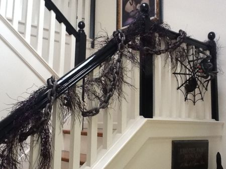 Banister Halloween Decorating Idea