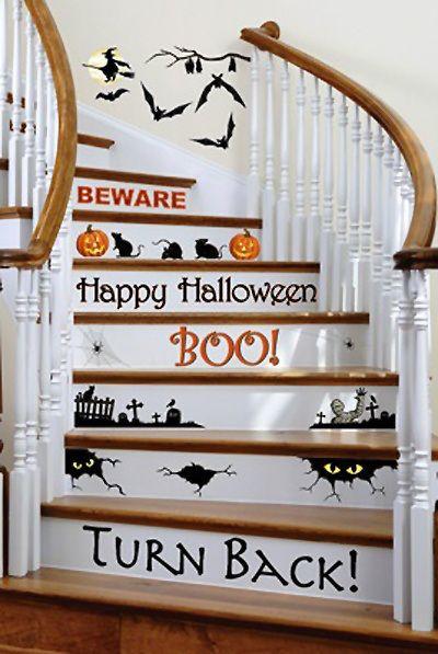 Halloween Stairway Warning