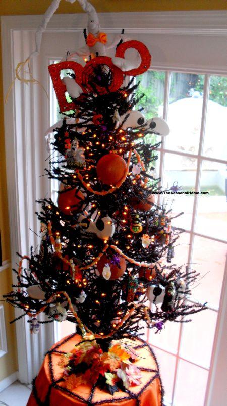 Decorated Halloween Tree