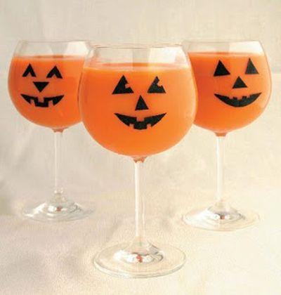 Jack-O-Lantern Halloween Stemware