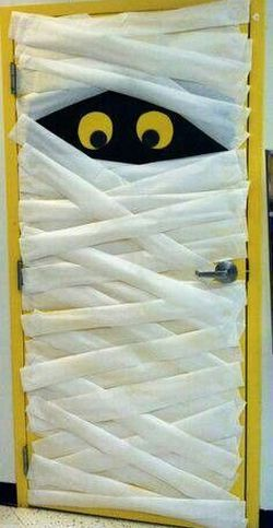 Preschool Halloween Door Decoration