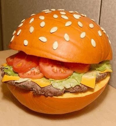 Hamburger Halloween Pumpkin Carving
