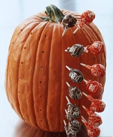 Candy Holder Halloween Pumpkin Carving Idea