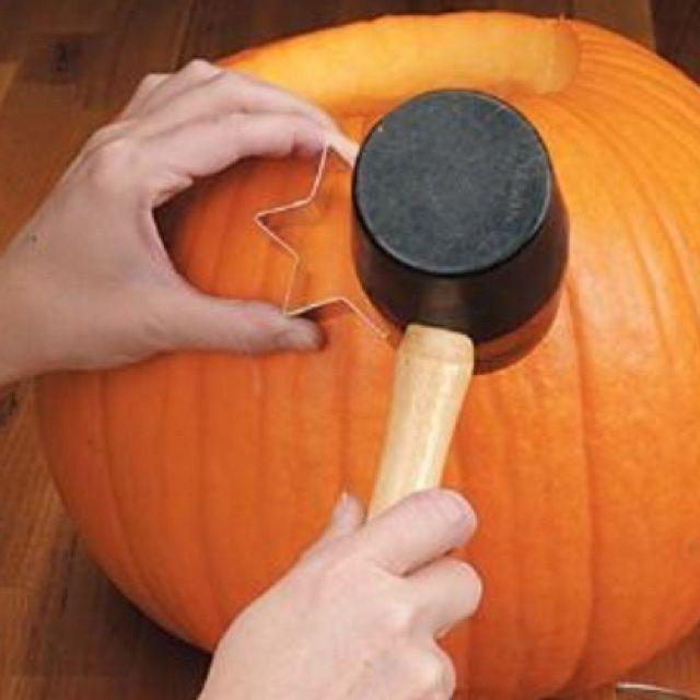 Cookie Cutter Halloween Pumpkin Carvings