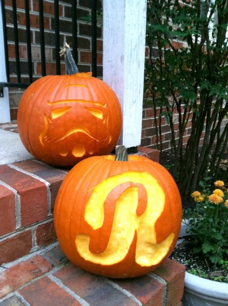 Monogrammed Halloween Pumpkin Carving Ideas