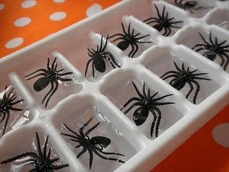 Spider Halloween Party Punch Ice Cubes