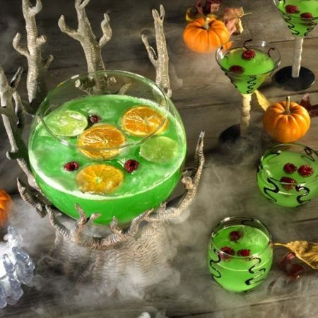 Green Halloween Party Punch