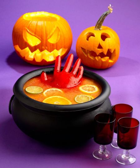 Bleeding Hand Halloween Party Punch