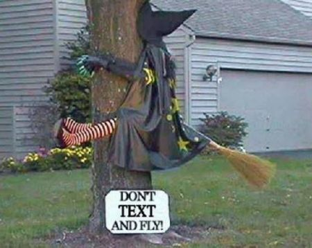 Don't Text And Fly Halloween Safety Tip